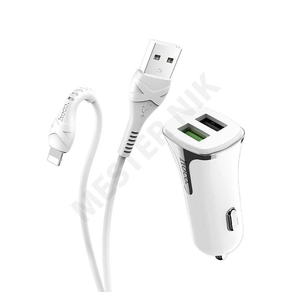شارژر فندکی هوکو مدل Z31 به همراه کابل تبدیل USB-C