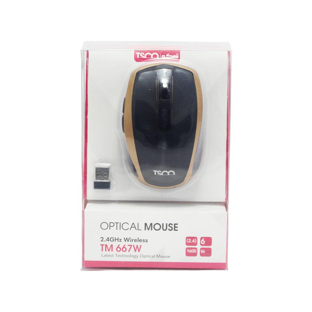 ماوس بی سیم تسکو مدل TM 667 W